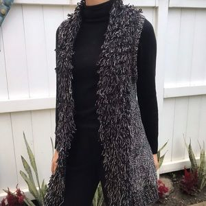 Knitted Long line vest cardigan